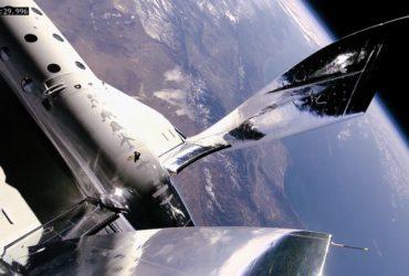 La terre vue à partir d'une navette de Virgin Galactic