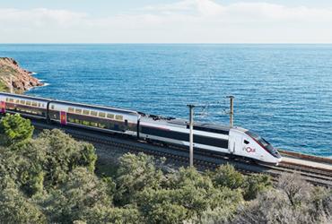 Un TGV de la SNCF en circulation