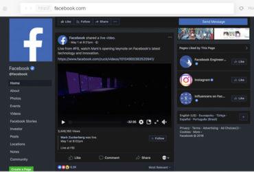 La nouvelle interface et le dark mode de Facebook