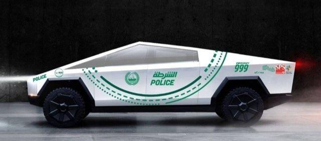 Une modélisation de la Tesla Cybertruckpar la police de Dubaï