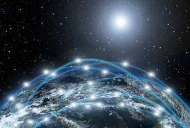Un nuage de réseaux internet (image de Starlink).