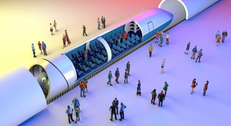 Une representation de l'hyperloop.