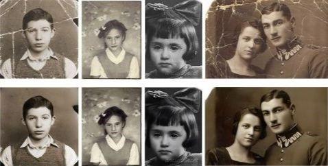 Un exemple de restauration de vieilles photos réalisé par Microsoft.